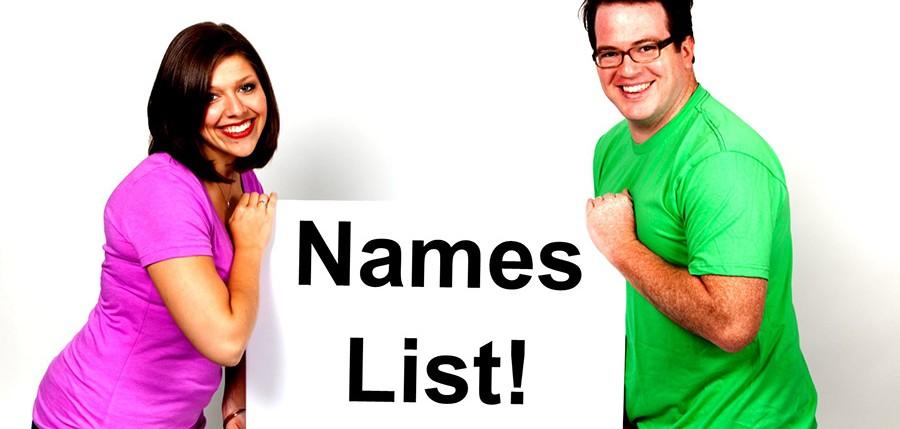 Names List 3