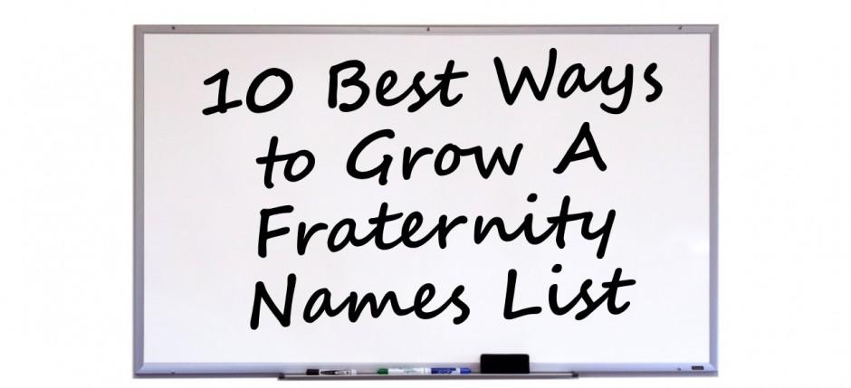 10 Names List Image