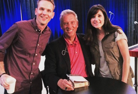 Woody and his wife, Mattye, with John Maxwell in Florence, AL.